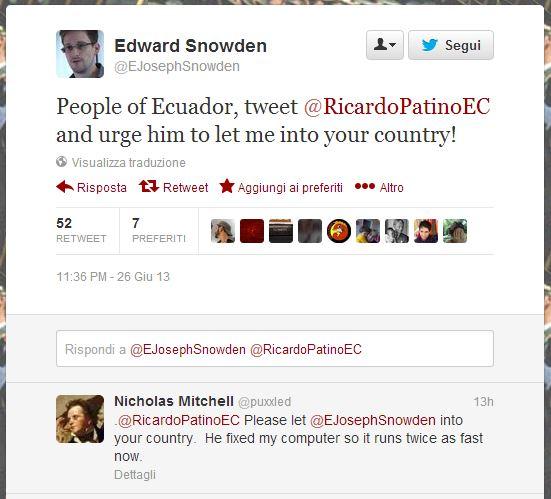 SnowdenTweetMaybeHoax