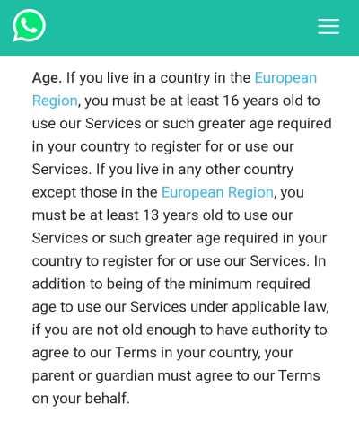 """A chi avesse appena appreso con sconforto che WhatsApp nell Unione Europea  sarà """"vietato"""" ai minori di 16 anni 327702d531e90"""